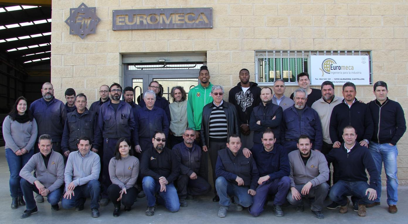euromeca con el club Amics del bàsquet